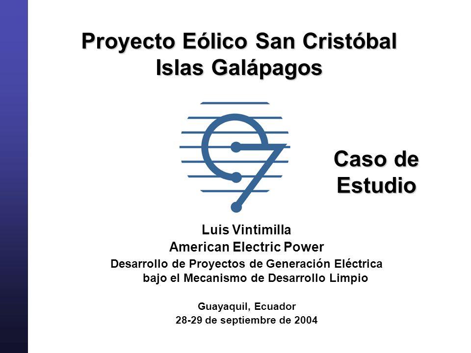 Proyecto Eólico San Cristóbal Islas Galápagos American Electric Power