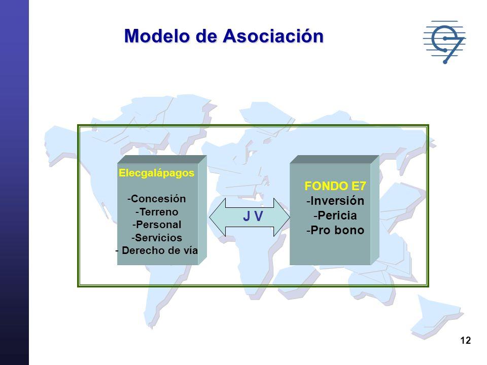 Modelo de Asociación J V FONDO E7 Inversión Pericia Pro bono