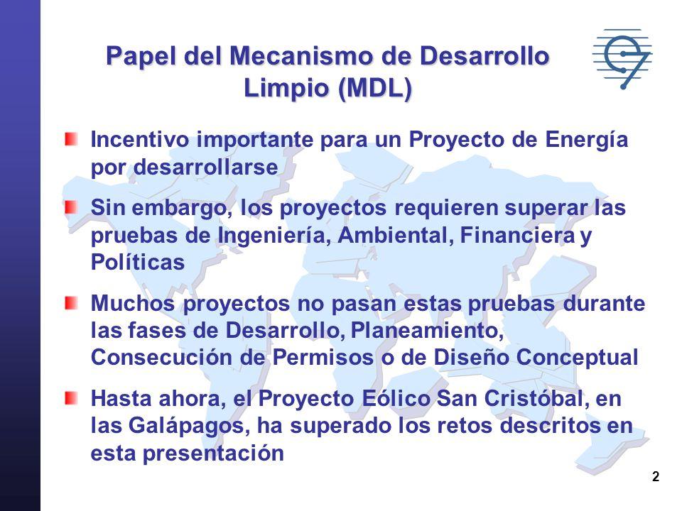 Papel del Mecanismo de Desarrollo Limpio (MDL)