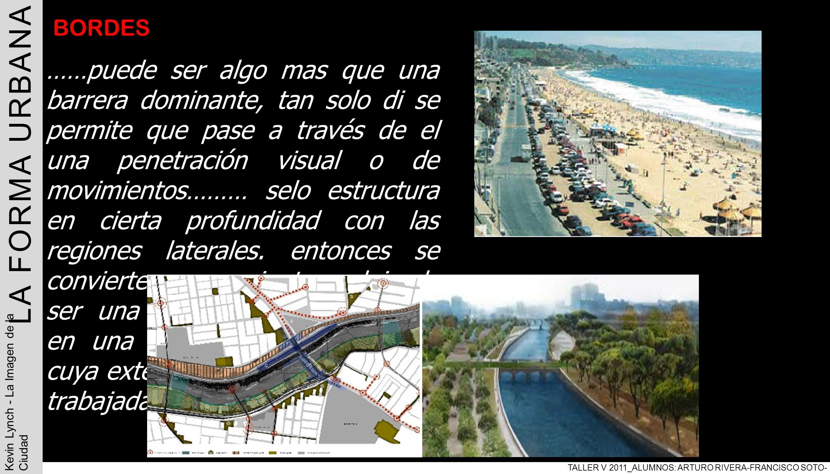LA FORMA URBANA TALLER V 2011_ALUMNOS: ARTURO RIVERA-FRANCISCO SOTO-PABLO ARAVENA. Kevin Lynch - La Imagen de la Ciudad.