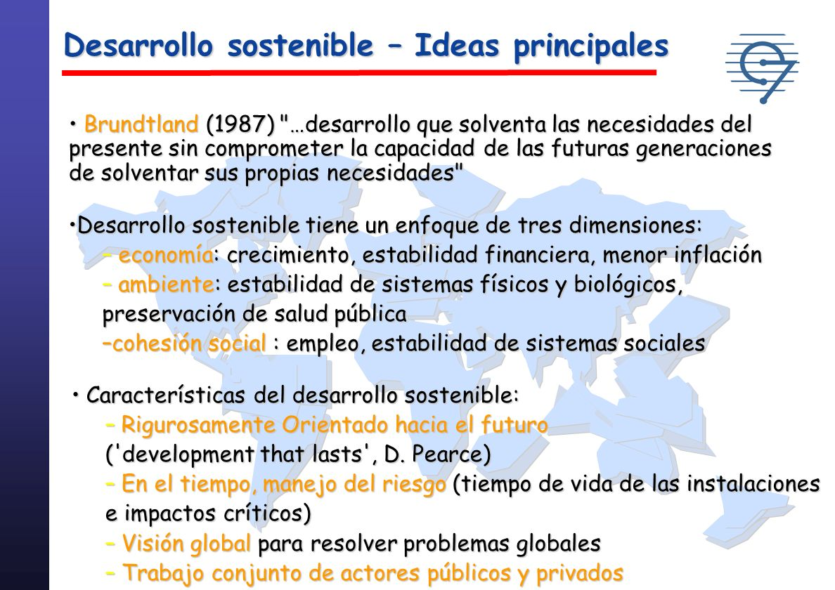 Desarrollo sostenible – Ideas principales