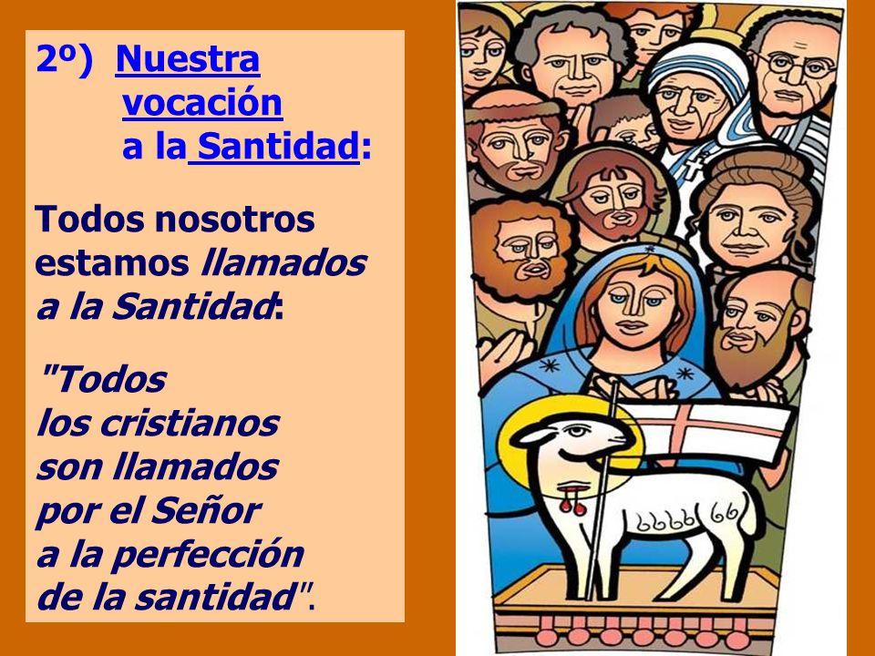 2º) Nuestra vocación a la Santidad: Todos nosotros estamos llamados a la Santidad: