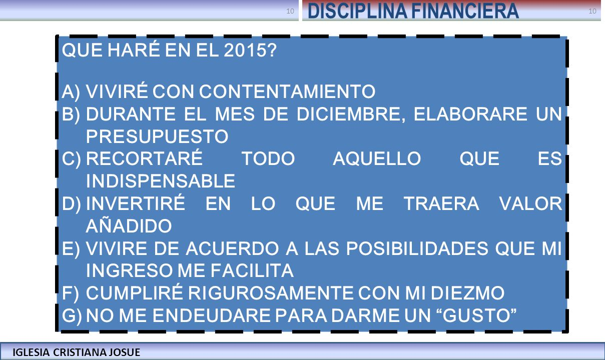 DISCIPLINA FINANCIERA