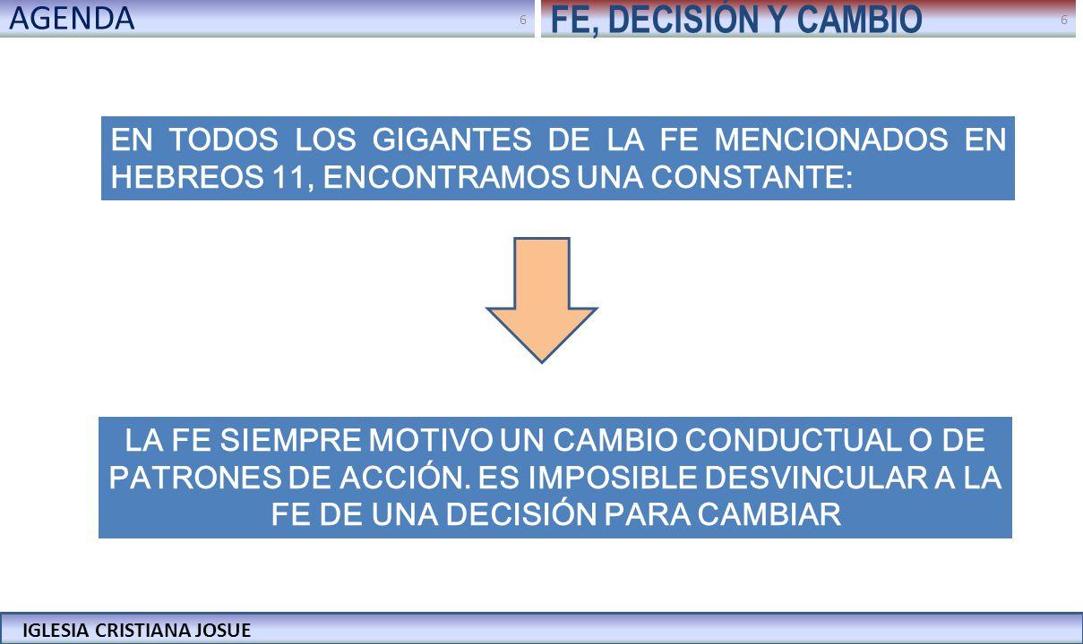 FE, DECISIÓN Y CAMBIO AGENDA