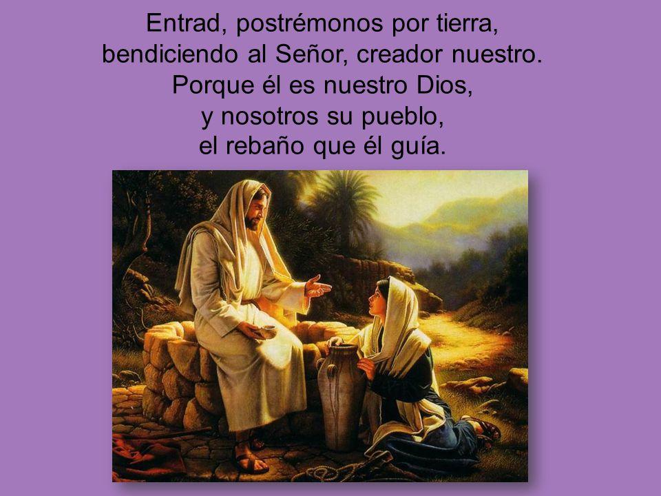 Entrad, postrémonos por tierra, bendiciendo al Señor, creador nuestro