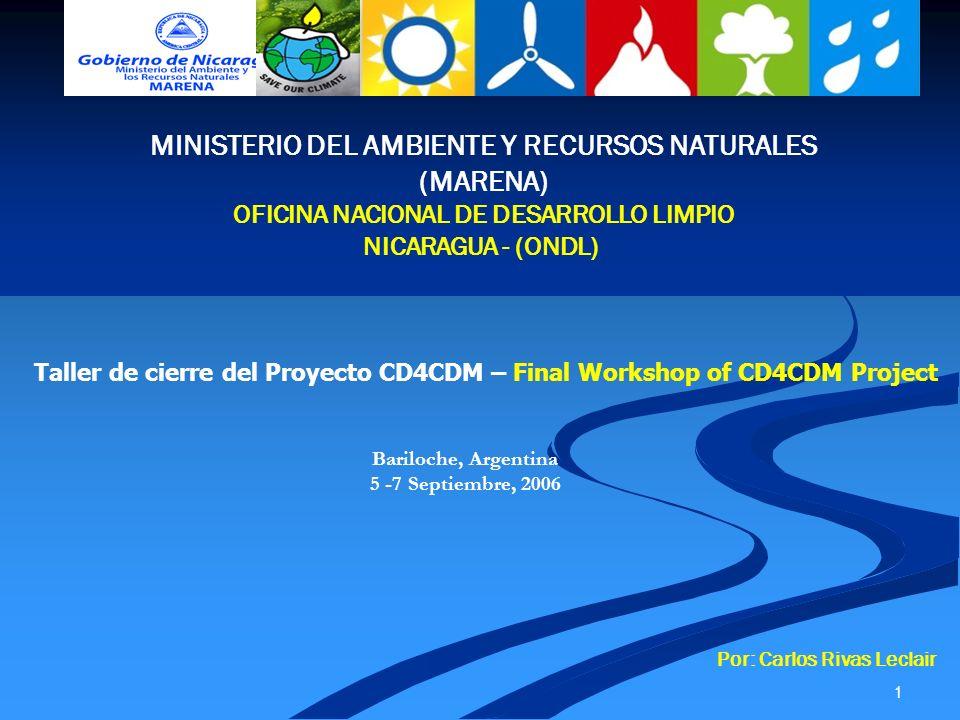 MINISTERIO DEL AMBIENTE Y RECURSOS NATURALES (MARENA)