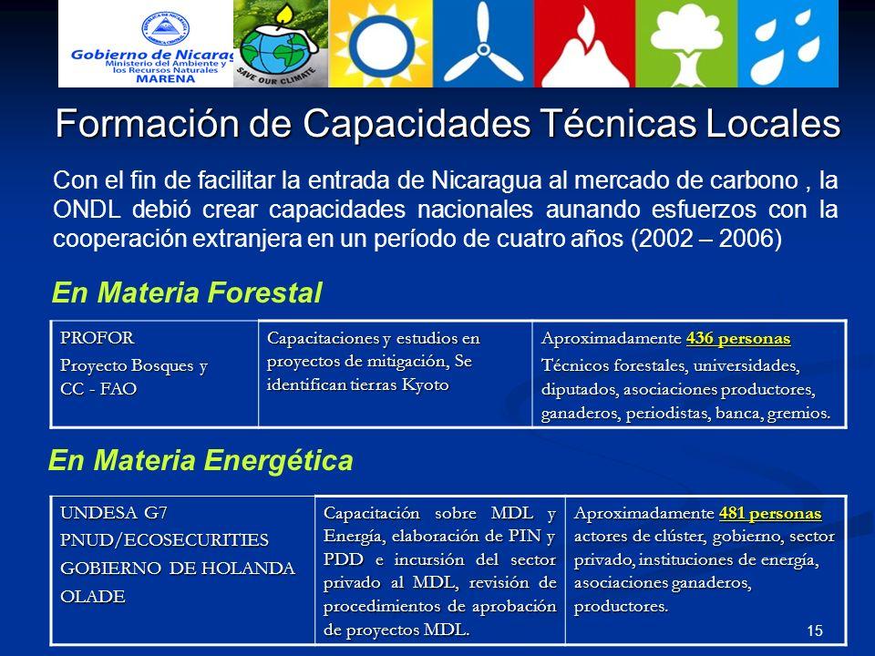 Formación de Capacidades Técnicas Locales