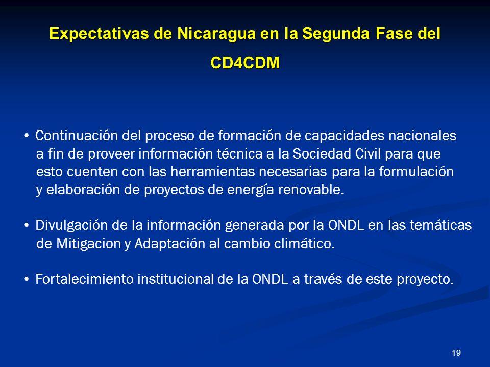 Expectativas de Nicaragua en la Segunda Fase del