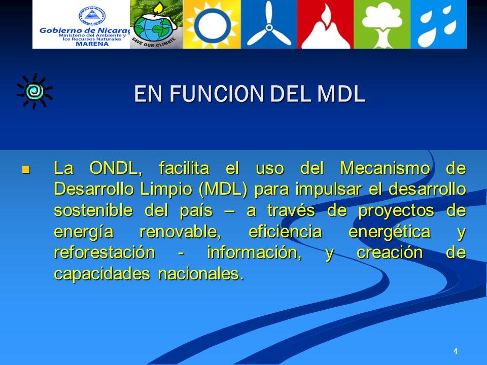 EN FUNCION DEL MDL