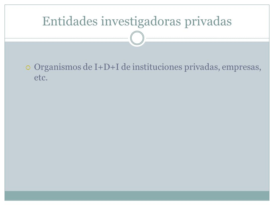 Entidades investigadoras privadas