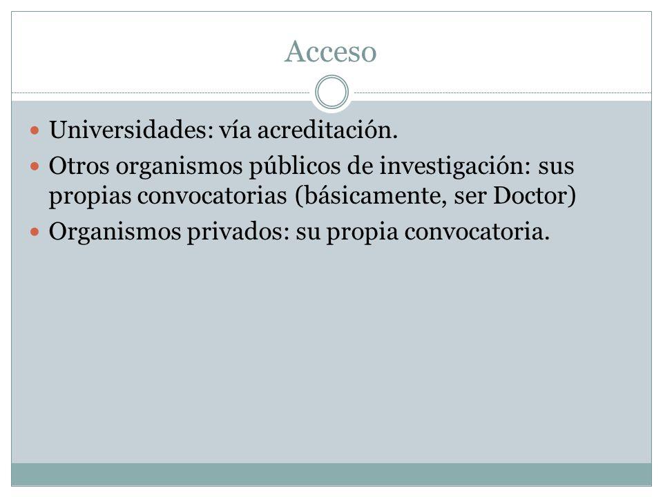 Acceso Universidades: vía acreditación.