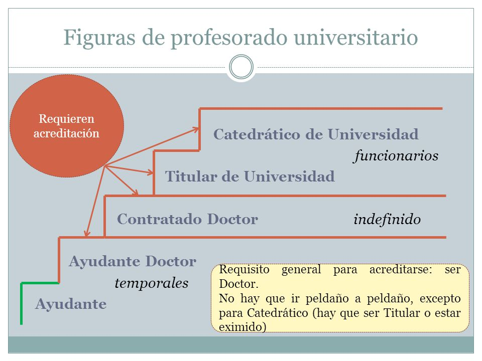 Figuras de profesorado universitario