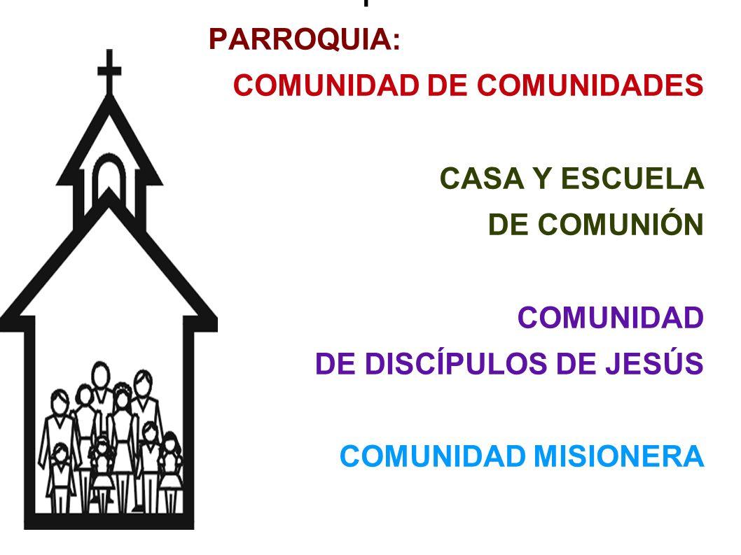 1 PARROQUIA: COMUNIDAD DE COMUNIDADES CASA Y ESCUELA DE COMUNIÓN