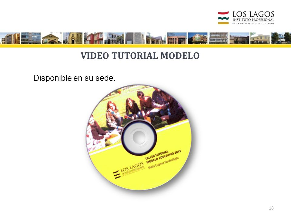 VIDEO TUTORIAL MODELO Disponible en su sede.