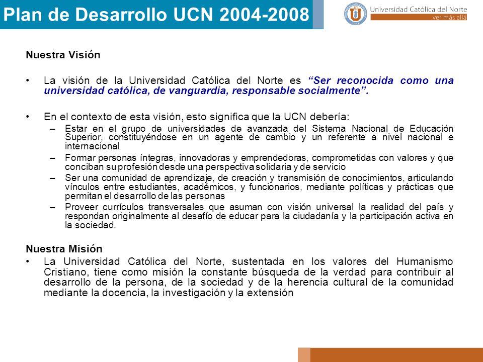 Plan de Desarrollo UCN 2004-2008