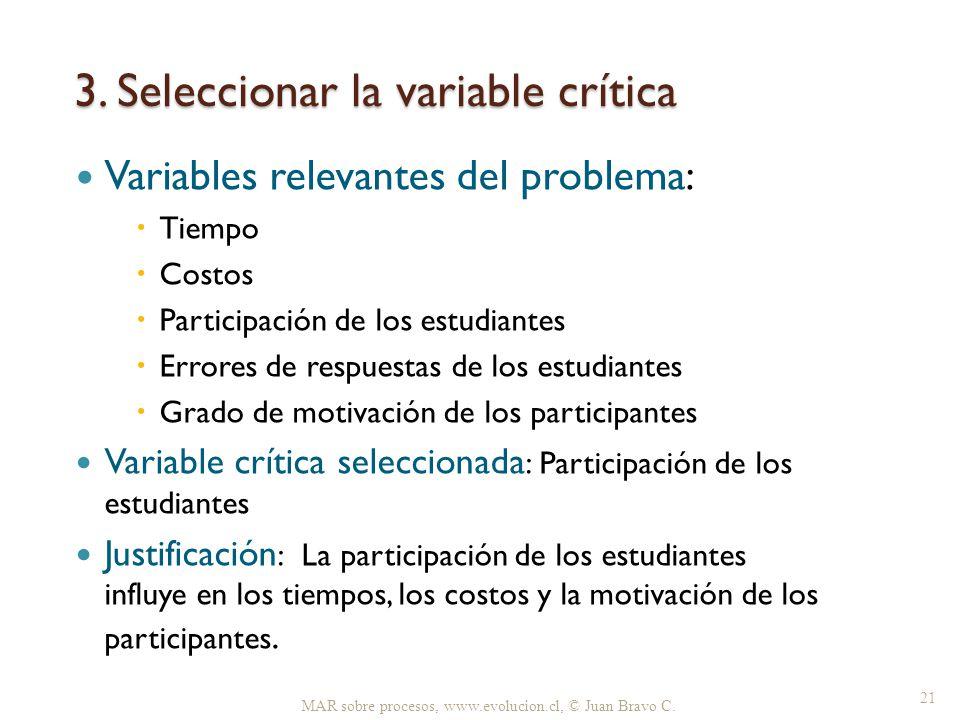 3. Seleccionar la variable crítica