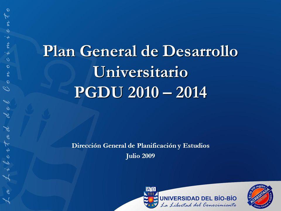 Plan General de Desarrollo Universitario PGDU 2010 – 2014