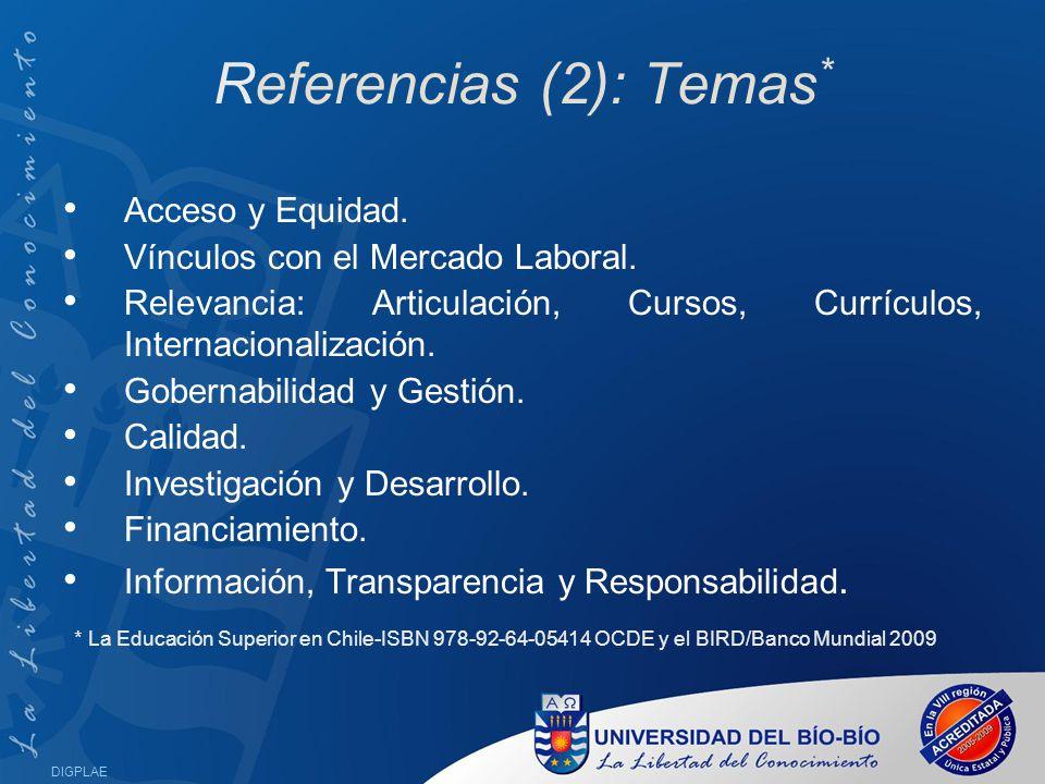 Referencias (2): Temas*