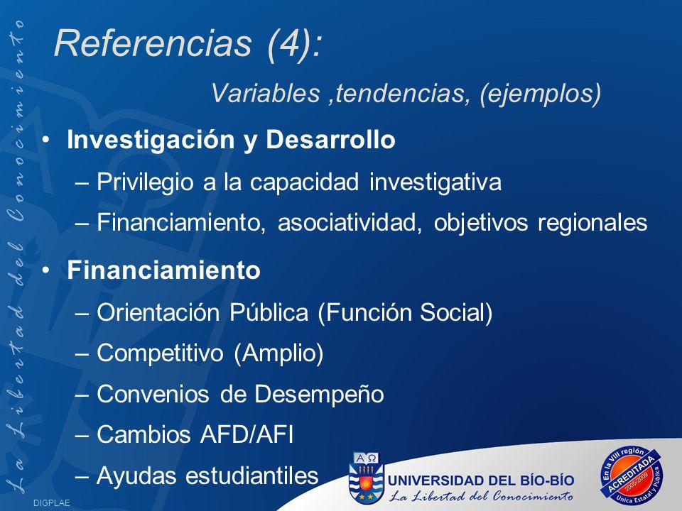 Referencias (4): Variables ,tendencias, (ejemplos)