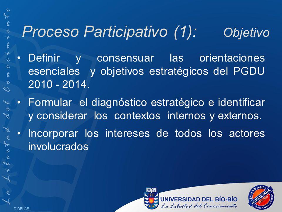 Proceso Participativo (1): Objetivo