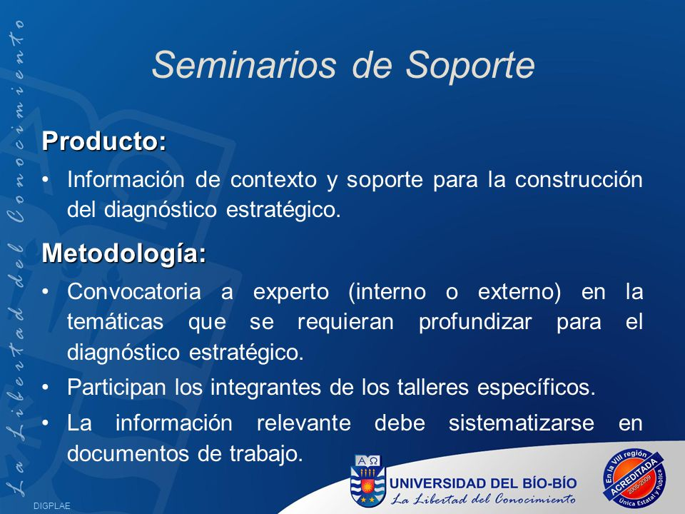 Seminarios de Soporte Producto: Metodología: