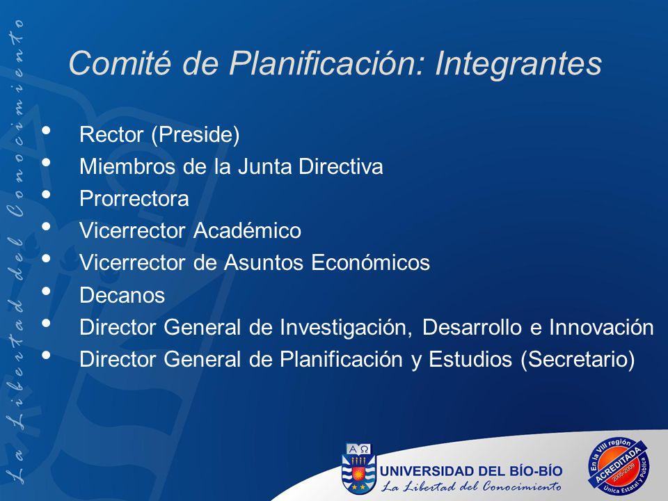 Comité de Planificación: Integrantes
