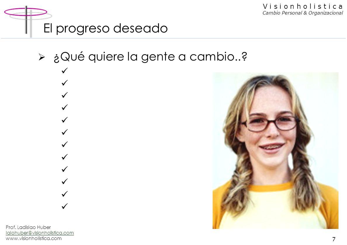 El progreso deseado ¿Qué quiere la gente a cambio..
