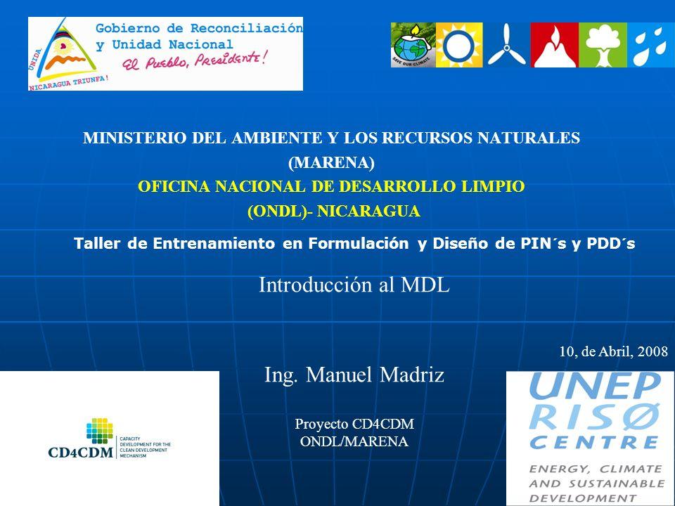 Introducción al MDL Ing. Manuel Madriz