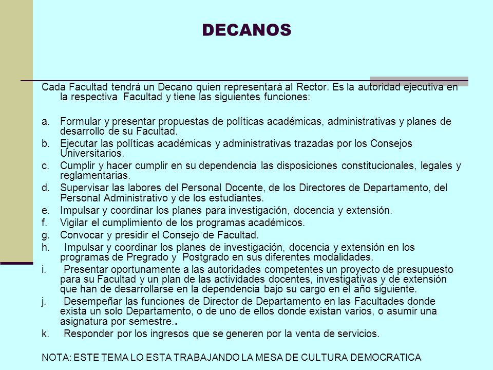 DECANOS