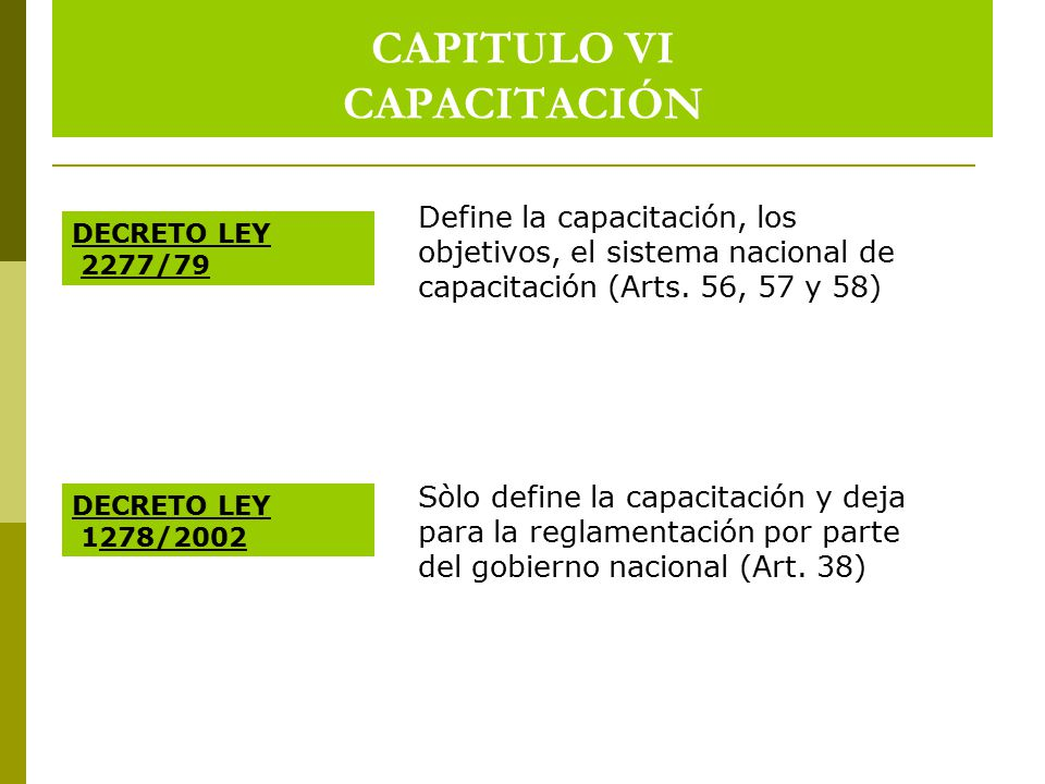 CAPITULO VI CAPACITACIÓN