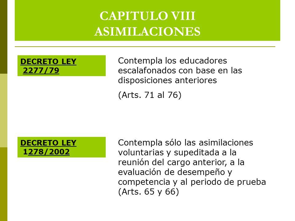 CAPITULO VIII ASIMILACIONES