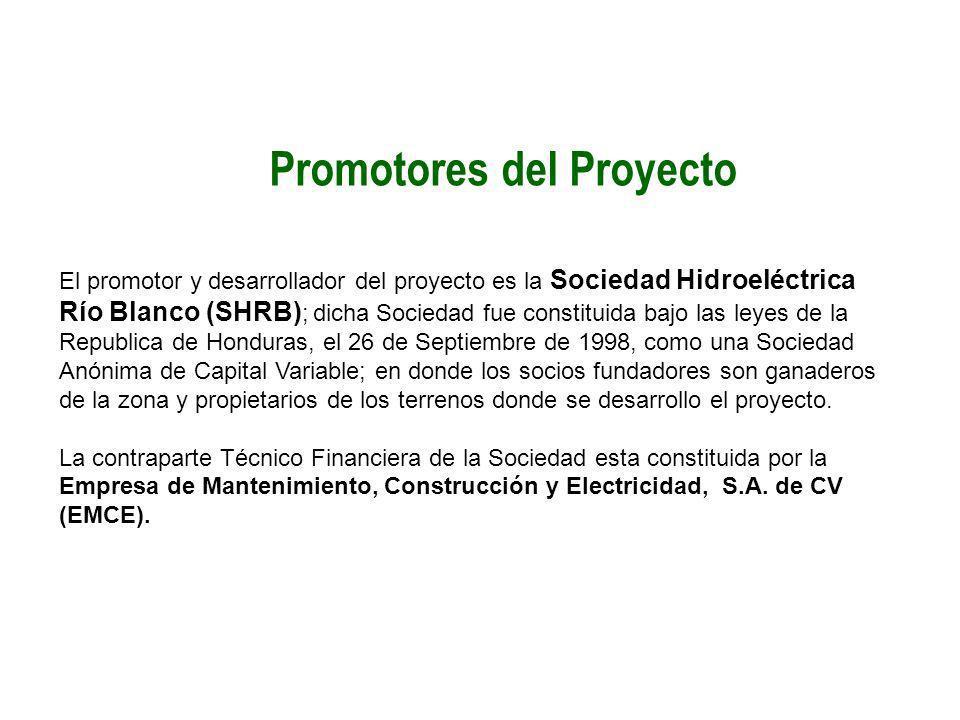 Promotores del Proyecto