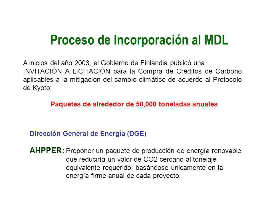 Proceso de Incorporación al MDL
