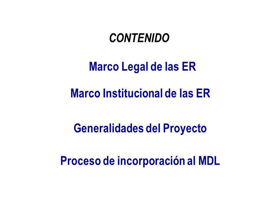 Marco Institucional de las ER