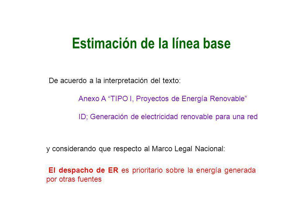 Estimación de la línea base