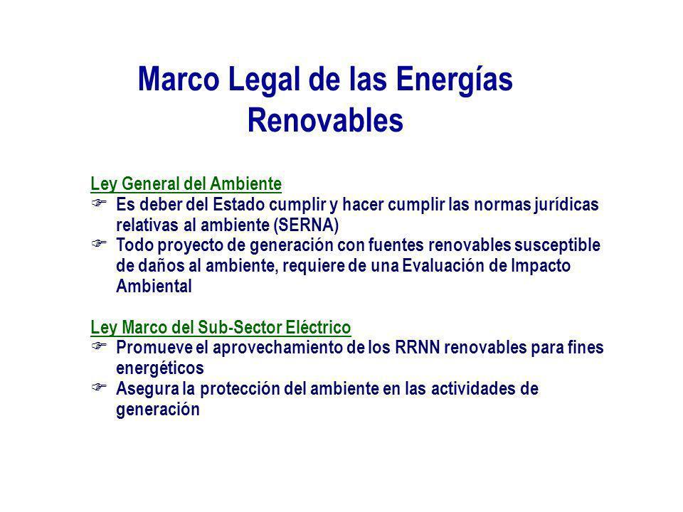 Marco Legal de las Energías Renovables