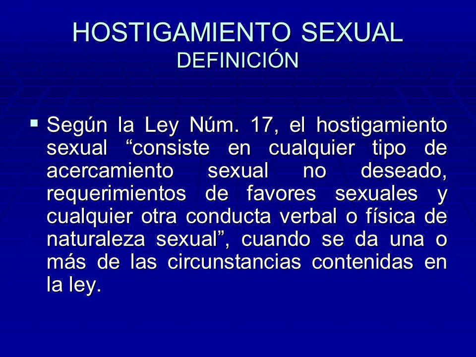 En la ley asunto sexual