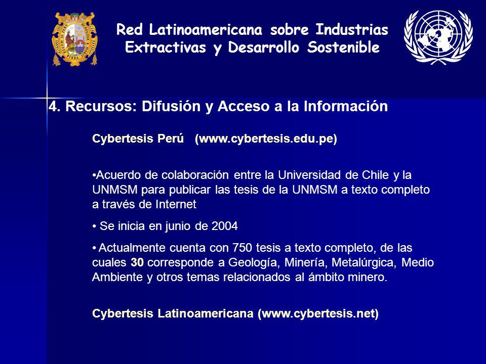 4. Recursos: Difusión y Acceso a la Información