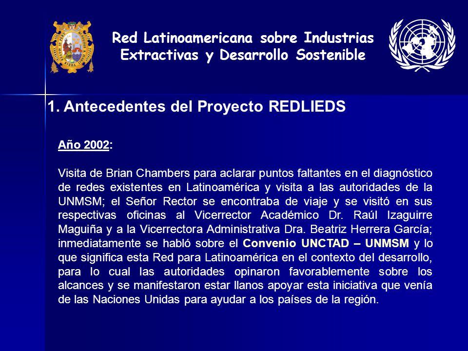 1. Antecedentes del Proyecto REDLIEDS