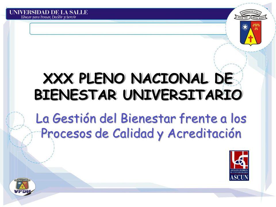 XXX PLENO NACIONAL DE BIENESTAR UNIVERSITARIO