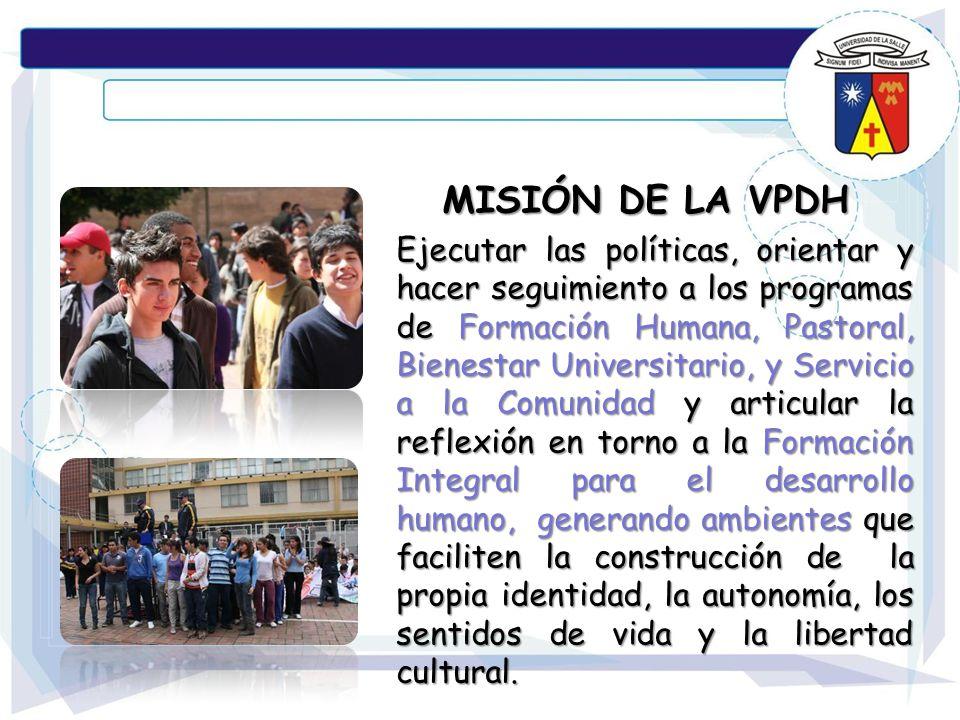 MISIÓN DE LA VPDH