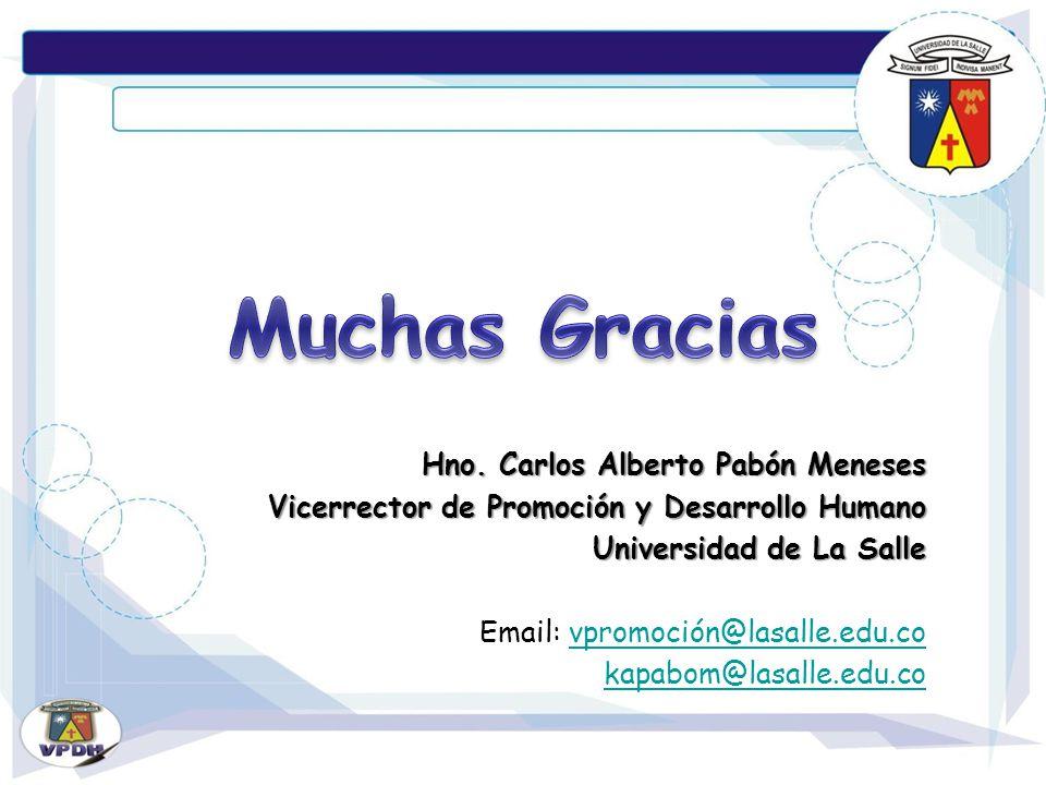 Muchas Gracias Hno. Carlos Alberto Pabón Meneses