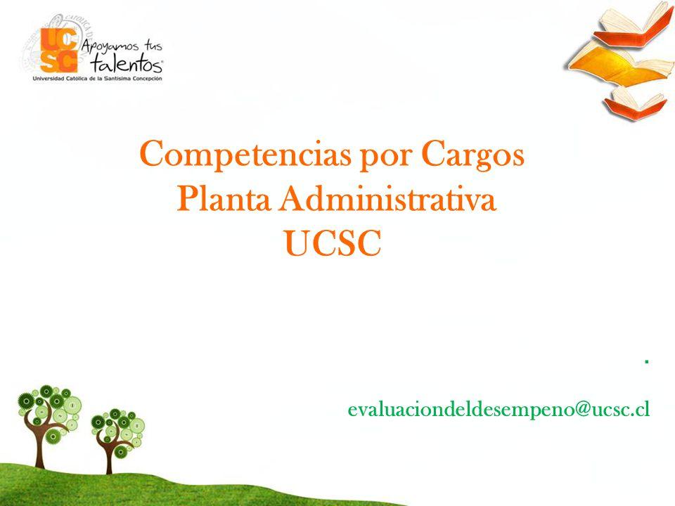 Competencias por Cargos Planta Administrativa UCSC