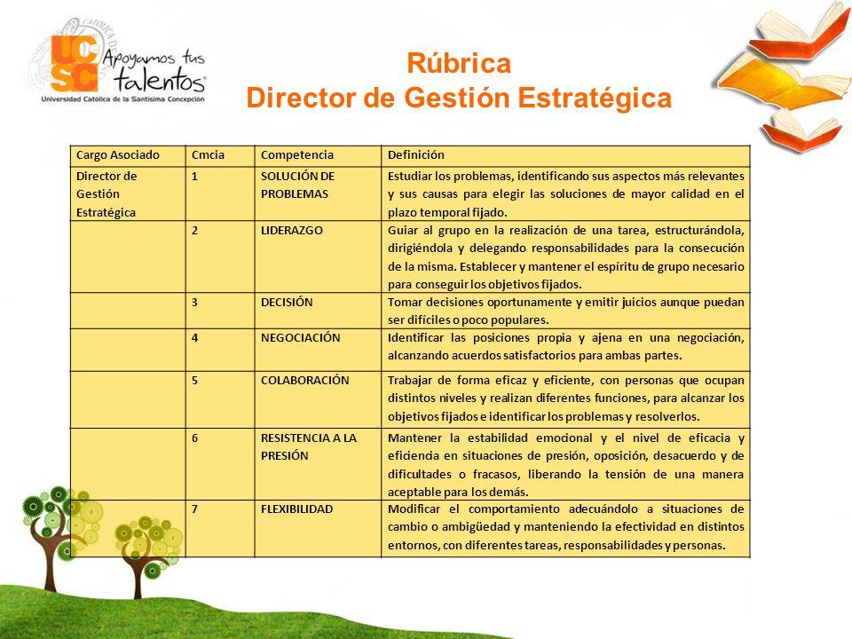 Director de Gestión Estratégica