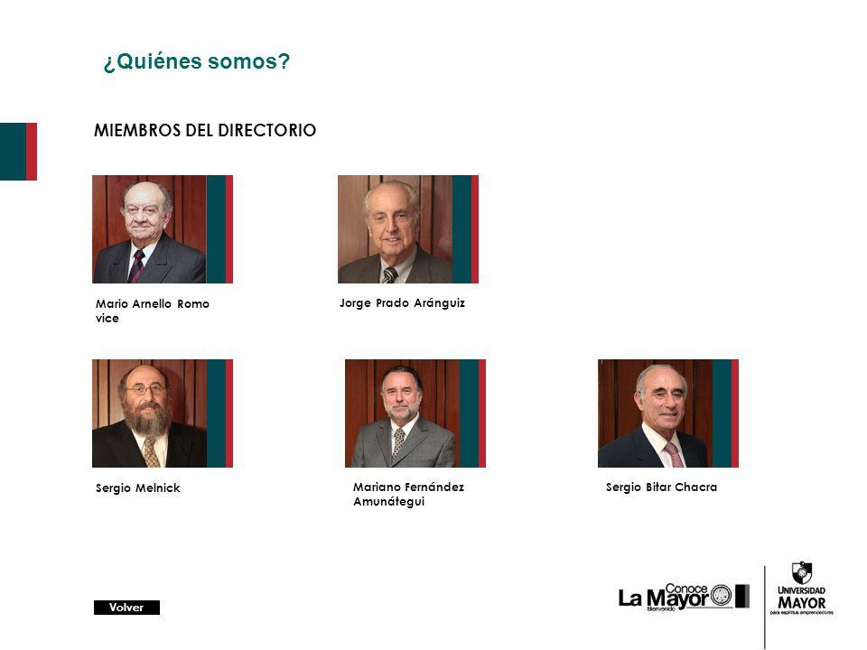 ¿Quiénes somos MIEMBROS DEL DIRECTORIO Mario Arnello Romo vice