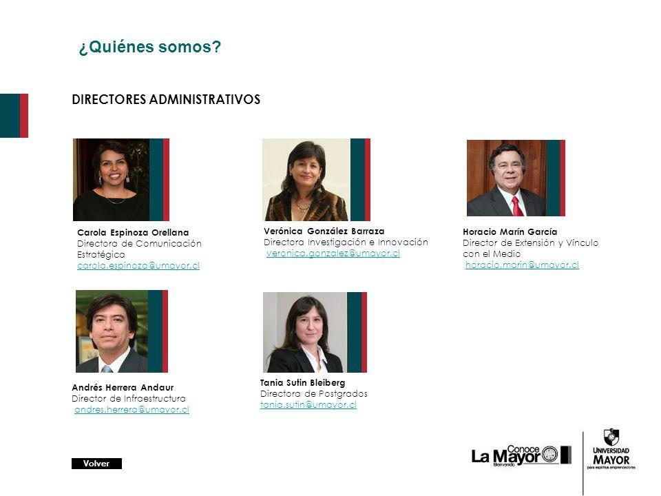 ¿Quiénes somos DIRECTORES ADMINISTRATIVOS Carola Espinoza Orellana