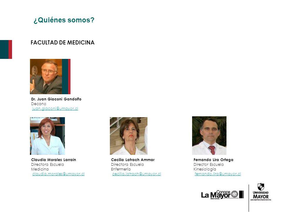 ¿Quiénes somos FACULTAD DE MEDICINA Dr. Juan Giaconi Gandolfo