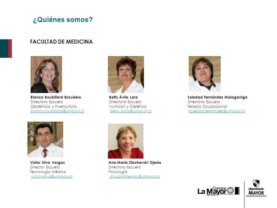 ¿Quiénes somos FACULTAD DE MEDICINA Blanca Roubillard Escudero