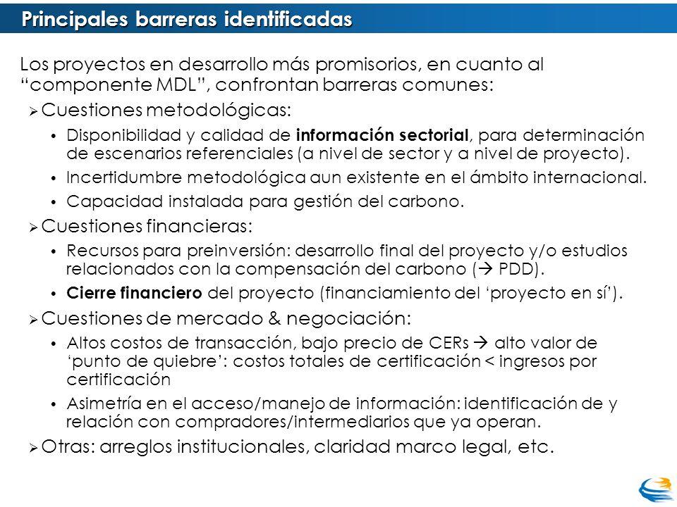 Principales barreras identificadas