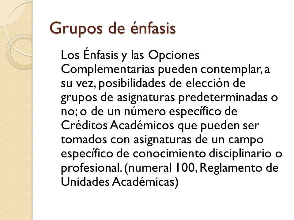 Grupos de énfasis